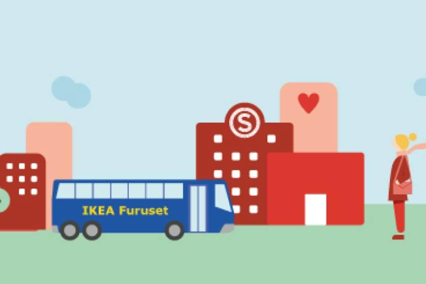 Ta IKEA-bussen til og fra studentbyen!
